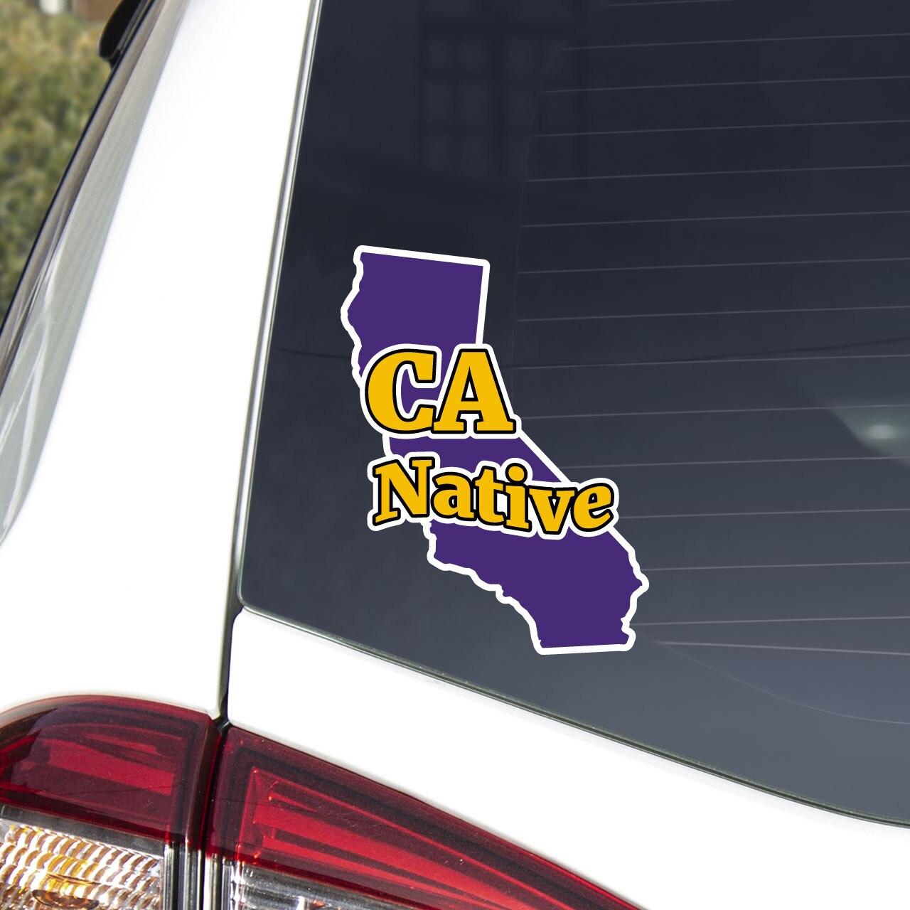 CA Native decal on car window